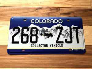 Colorado Collector Vehicle License Plate