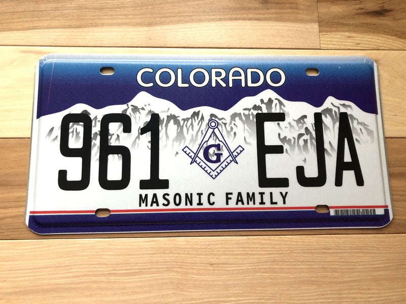 Colorado Masonic Family License Plate