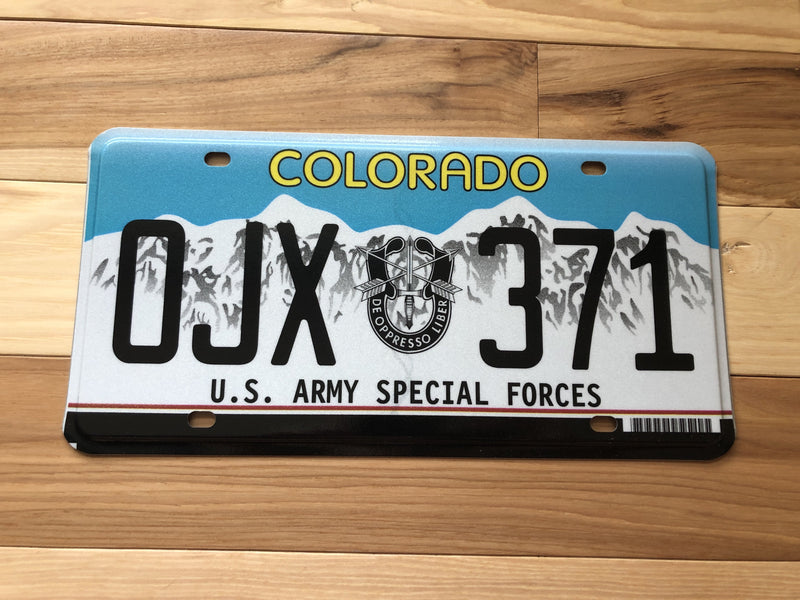 Colorado U.S. Army Special Forces License Plate