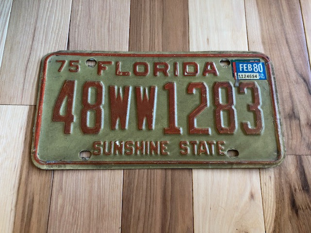 1980 Florida License Plate