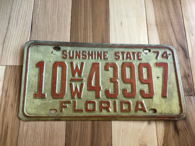 1974 Florida License Plate