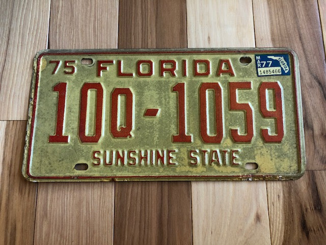 1977 Florida License Plate