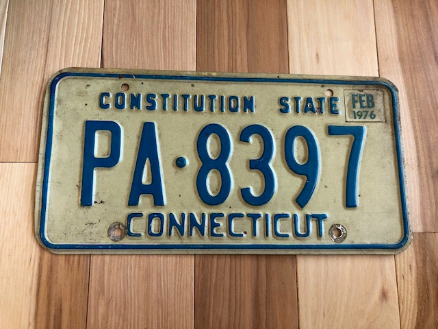 1976 Connecticut License Plate