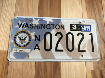 2012 Washington Navy Veteran License Plate