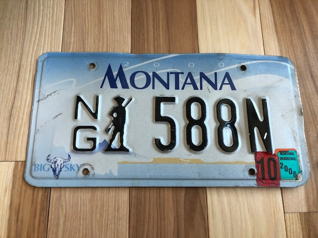 Montana National Guard License Plate