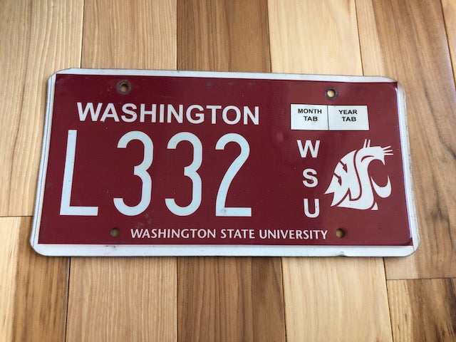 Washington State University License Plate - Go Cougs!
