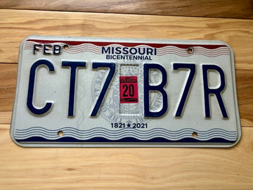 Missouri Bicentennial License Plate