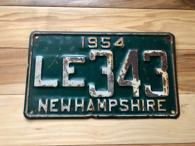 1954 New Hampshire License Plate