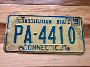 1980 Connecticut License Plate