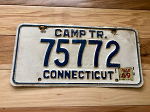 1969 Connecticut Camper Trailer License Plate