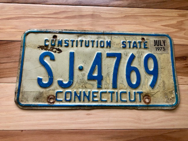 1975 Connecticut Constitution State License Plate