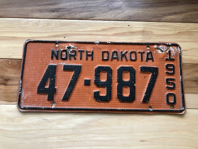 1950 North Dakota License Plate