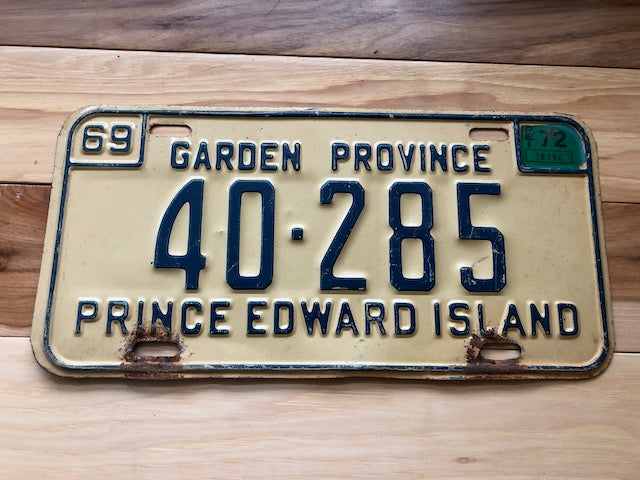 1969 Prince Edward Island License Plate