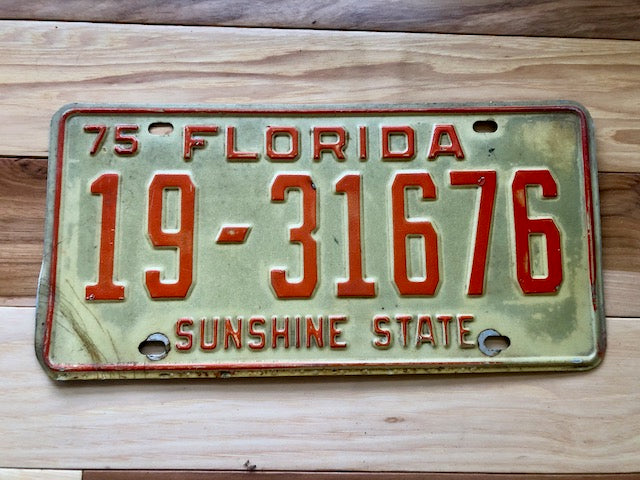 1975 Florida Sunshine State License Plate
