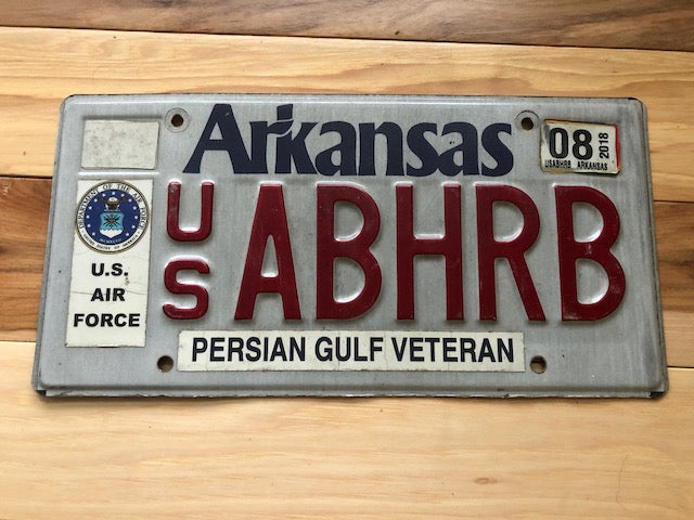 Arkansas Persian Gulf Veteran License Plate