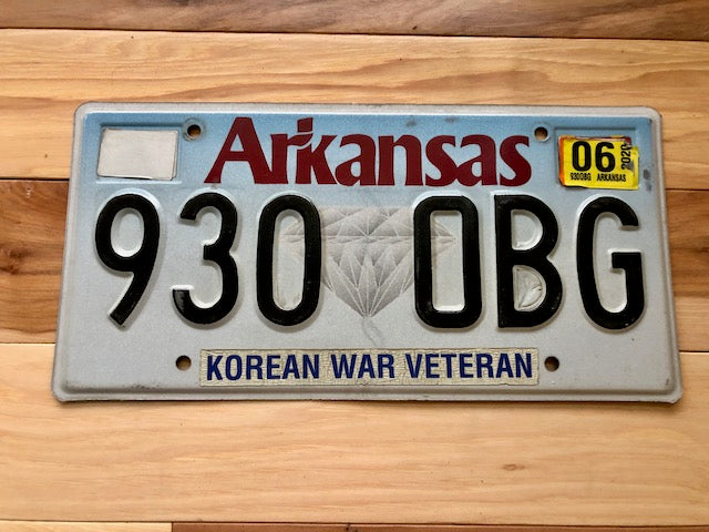 Arkansas Korean War Veteran License Plate
