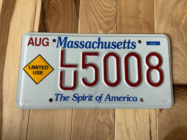 Massachusetts Limited Use License Plate