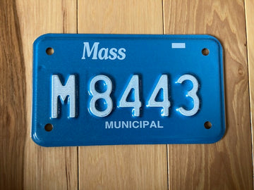 Massachusetts Municipal Motorcycle License Plate