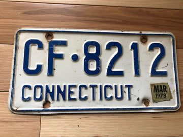 1978 Connecticut License Plate