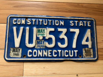1981 Connecticut License Plate