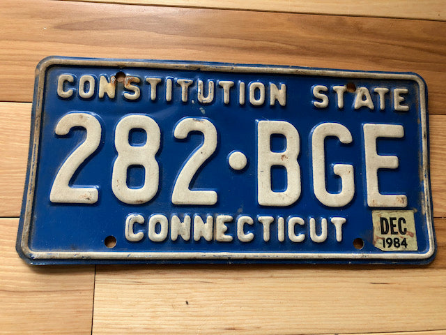 1984 Connecticut License Plate