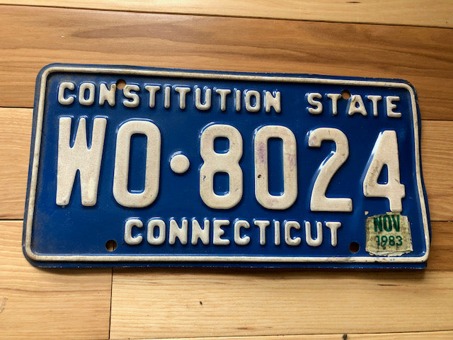 1983 Connecticut License Plate