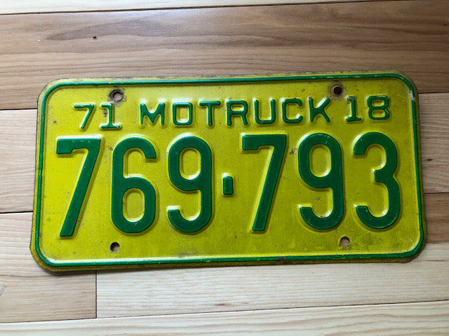1971 Missouri Truck License Plate