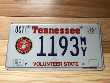Tennessee Marine Corps License Plate
