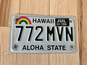 Hawaii Motorcycle License Plate