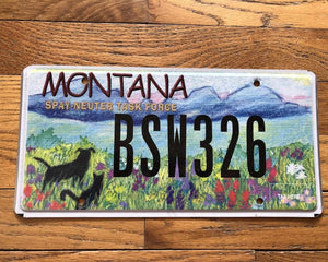 Montana Spay and Neuter License Plate