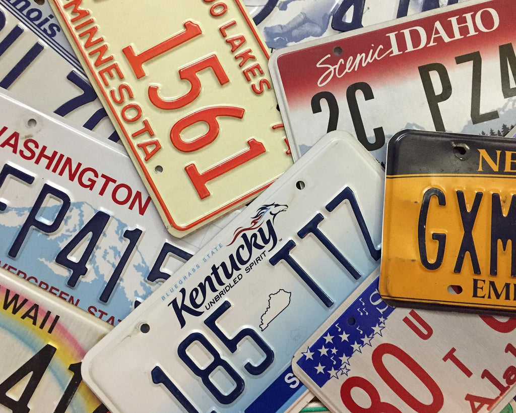 Pick-A-Plate - All States Available + Canada, Mexico & Many Territories - Good Condition
