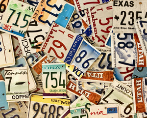 100 Cut License Plate Pieces