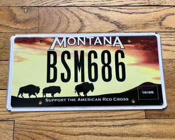 Montana Support the Red Cross License Plate