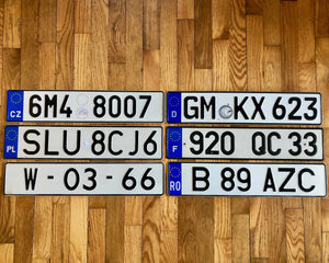 Pick a Plate - European License Plates - Good Condition