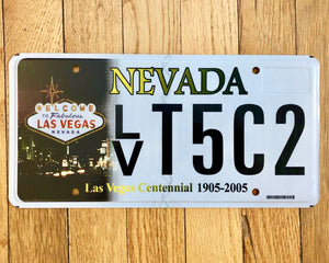 Las Vegas Nevada Centennial License Plate