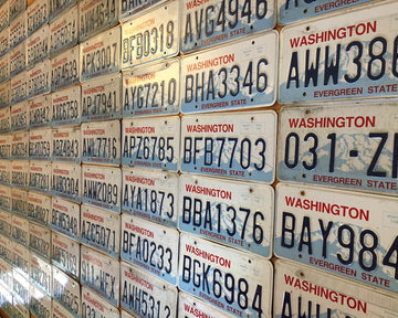 Washington State License Plates in Good Condition