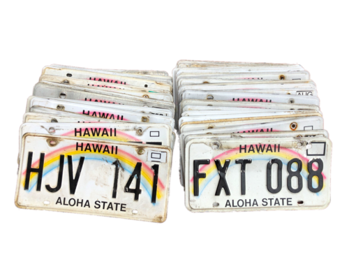 50 Hawaii License Plates in Craft Condition