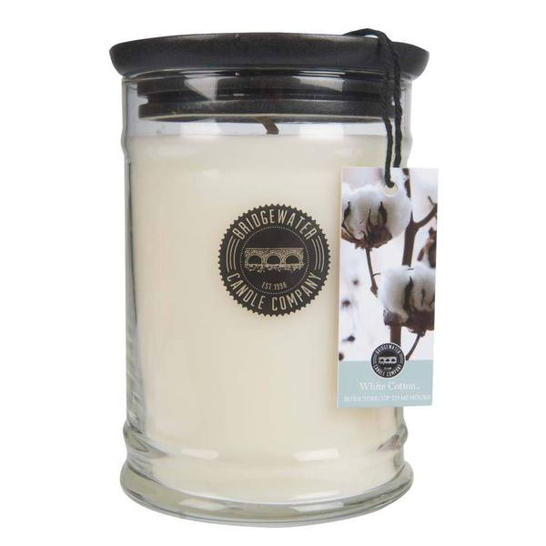 Bridgewater White Cotton Jar Candle - 18oz