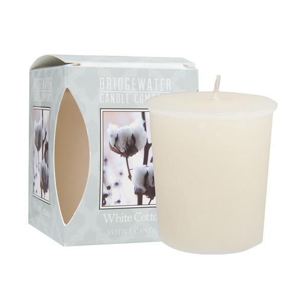 Bridgewater White Cotton Votive Candle