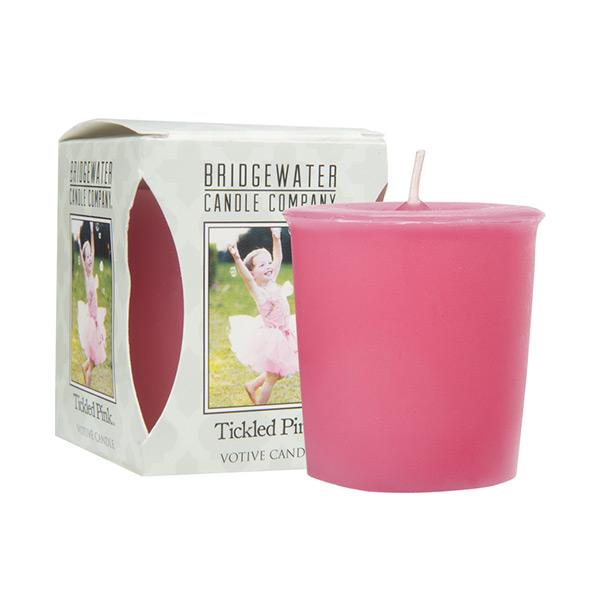 Bridgewater Tickled Pink Votive Candle
