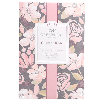 Greenleaf Currant Rose Large Scented Sachet