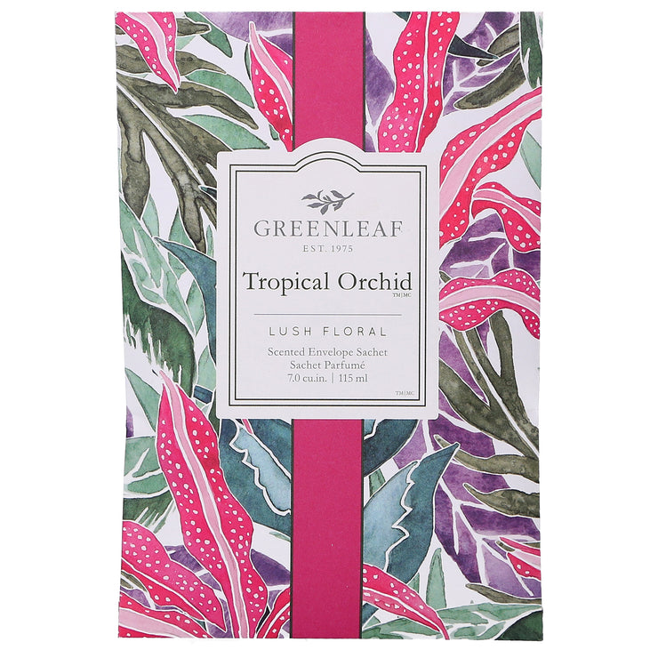 Greenleaf Tropical Orchid Large Scented Sachet