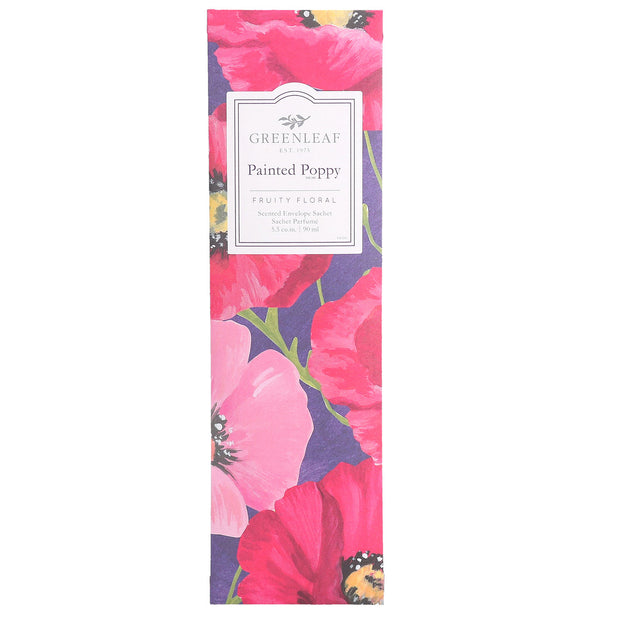 Greenleaf Painted Poppy Slim Scented Sachet