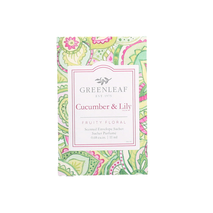 Greenleaf Cucumber Lily Small Scented Sachet