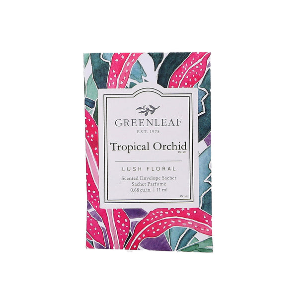 Greenleaf Tropical Orchid Small Scented Sachet