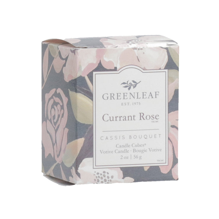 Greenleaf Currant Rose Candle Cube