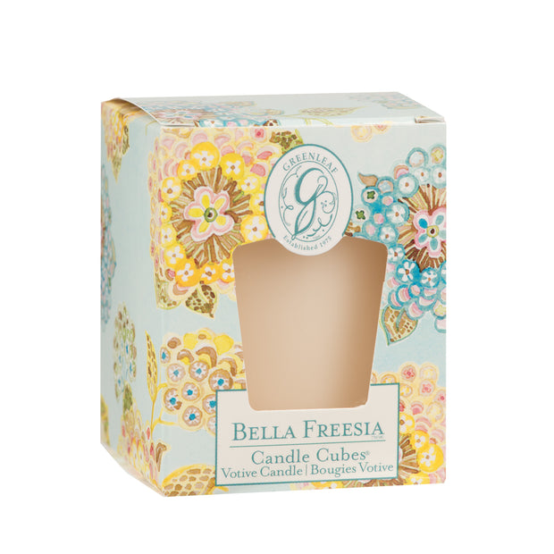 Greenleaf Bella Freesia Candle Cube - OLD DESIGN