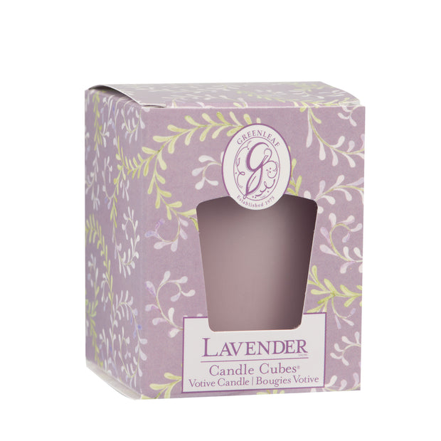 Greenleaf Lavender Candle Cube - OLD DESIGN