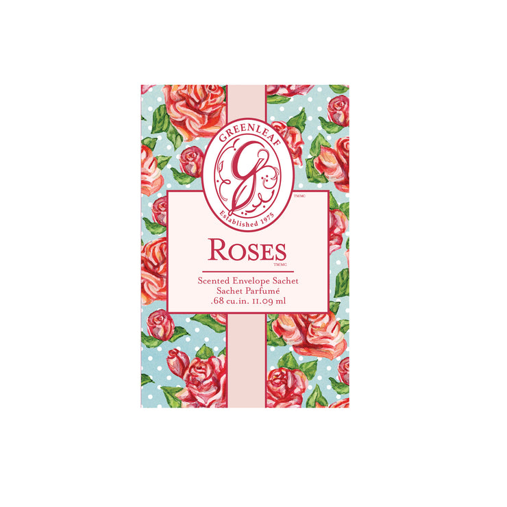 OLD DESIGN Greenleaf Roses Small Scented Sachet