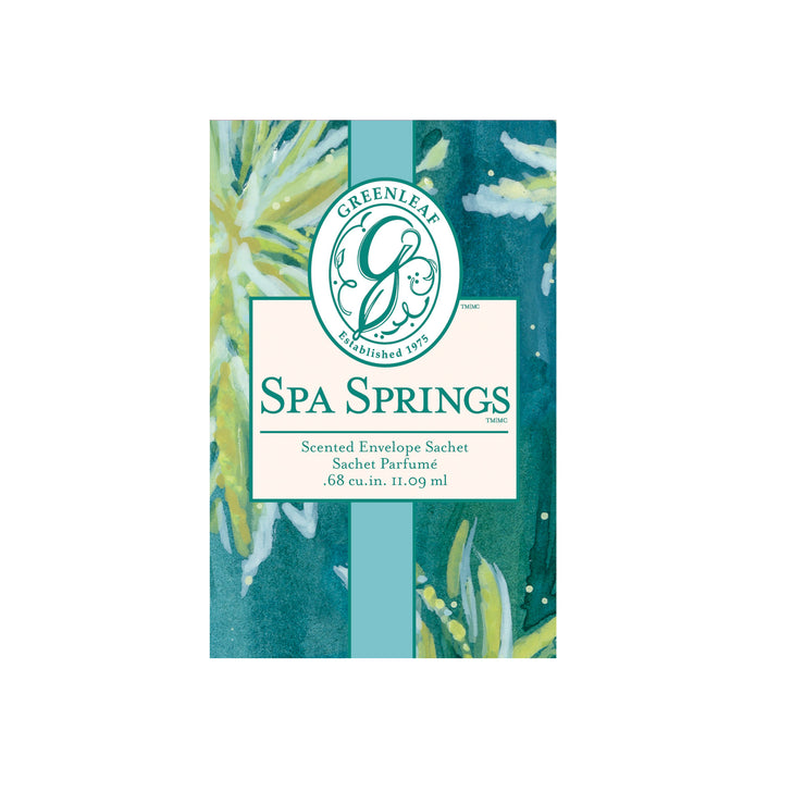 OLD DESIGN Greenleaf Spa Springs Small Scented Sachet